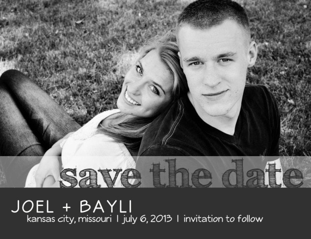 Joel & Bayl Save the Date Front